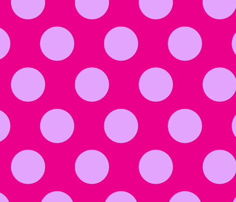 jumbo polka dots lilac & hot pink fabric by juneblossom on Spoonflower - custom fabric