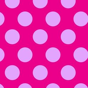 jumbo polka dots lilac & hot pink