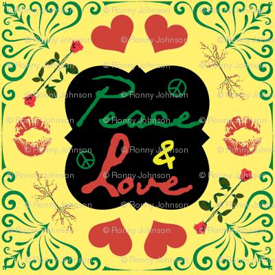 Peace & Love Khaki Back