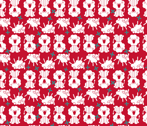 Roarin' N Gambolin' - Big fabric by ravenous on Spoonflower - custom fabric
