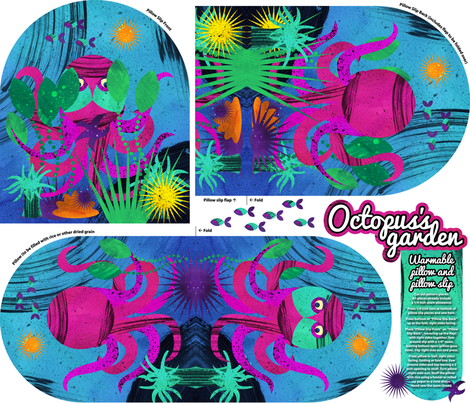 Octopus's Garden warming pillow and slip cover fabric by aldea on Spoonflower - custom fabric