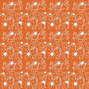 You Are My Sunshine Elephants in Orange