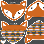 fox clutch zipper bag - cut and sew pattern