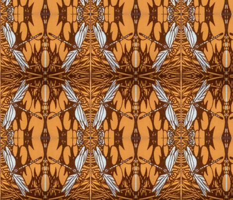 Rainy Season, Beetles and Dragonflies fabric by neekburkitt on Spoonflower - custom fabric