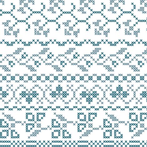 flower cross stich fabric by heleenvanbuul on Spoonflower - custom fabric