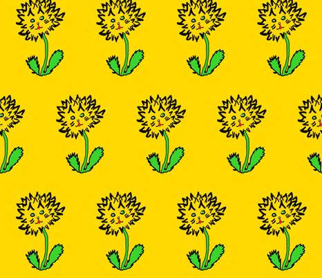 Mr. Dan D. Lion fabric by anniedeb on Spoonflower - custom fabric