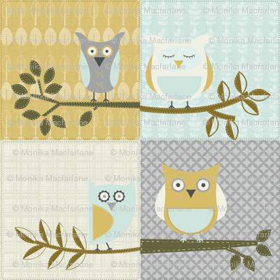City Park Owls - Patchwork