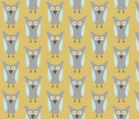 City Park Owls - Olly fabric by piccadillylily on Spoonflower - custom fabric