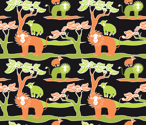 Lion_Lamb fabric by vannina on Spoonflower - custom fabric