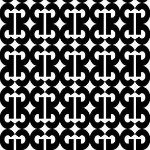 Bold G - Black and White