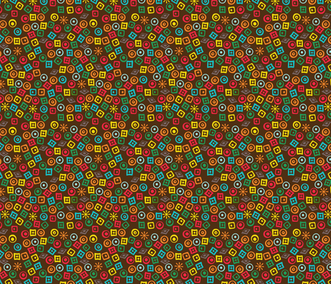 Mola Coquito fabric by lizartelier on Spoonflower - custom fabric