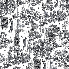 Black Greyhound Toile- running yardage repeat