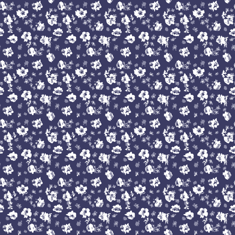 Lisianthus and Forget Me Nots fabric by janelle_wooten on Spoonflower - custom fabric