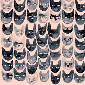 Black Cat Faces