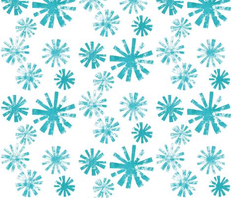 Starburst - aqua fabric by cameronhomemade on Spoonflower - custom fabric