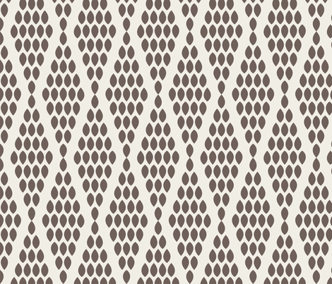 farmhouse_beaded_triangle_brown fabric by holli_zollinger on Spoonflower - custom fabric