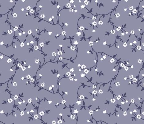 Pioneer Flowered Vines fabric by janelle_wooten on Spoonflower - custom fabric