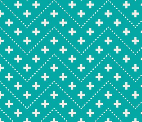 farmhouse_plus_and_dash_aqua fabric by holli_zollinger on Spoonflower - custom fabric