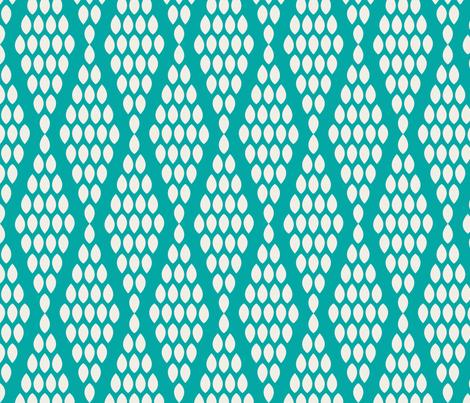 farmhouse_beaded_triangle_aquamarine fabric by holli_zollinger on Spoonflower - custom fabric