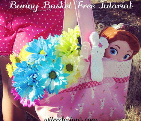 Witee Pink Bunny Basket (Cut & Sew Project)