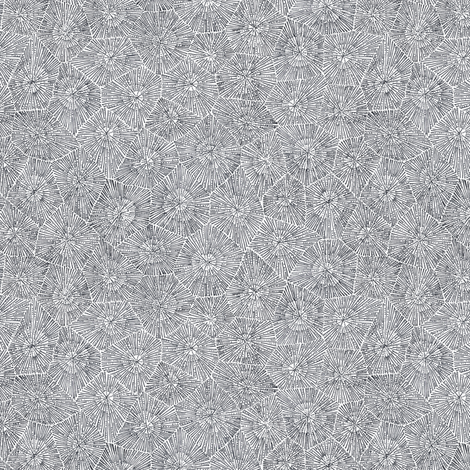 small petoskey stone in black and white  fabric by weavingmajor on Spoonflower - custom fabric