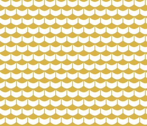 GoldScallops fabric by mrshervi on Spoonflower - custom fabric