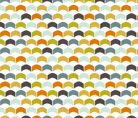 GreenScallops fabric by mrshervi on Spoonflower - custom fabric