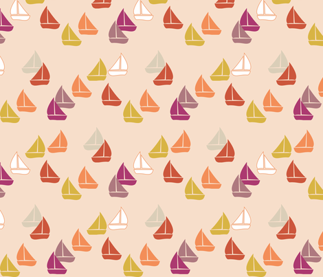 PinkSailBoats fabric by mrshervi on Spoonflower - custom fabric