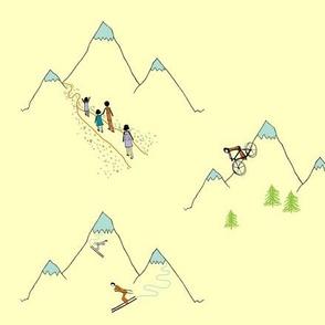 Mountain play (in custard)