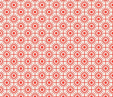 farmhouse_garden_red fabric by holli_zollinger on Spoonflower - custom fabric