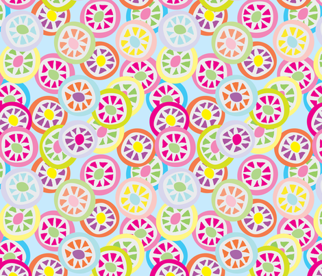 Mmmm Candy - Wrappers - 1 fabric by owlandchickadee on Spoonflower - custom fabric