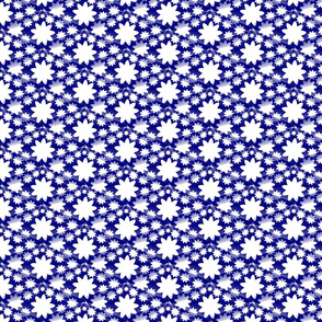 Ditzy Floral and Diamonds - Blue