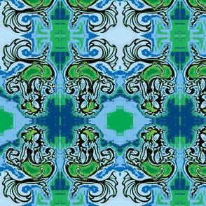 Sitting Pretty Mermaid6-blue/green