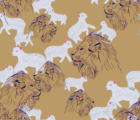 Mouton fabric by alice_rev on Spoonflower - custom fabric