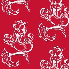 Sitting Pretty Mermaid6-reds/white