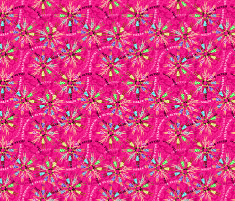 girlpower fabric by glimmericks on Spoonflower - custom fabric