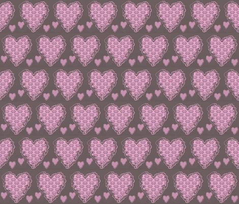 Melt away heart fabric by tajaan on Spoonflower - custom fabric