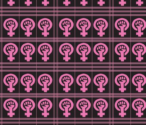 Girl Power Plaid fabric by ronnyjohnson on Spoonflower - custom fabric