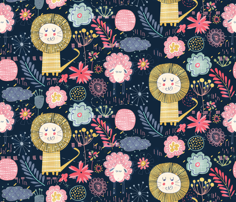Wild and sweet garden fabric by demigoutte on Spoonflower - custom fabric