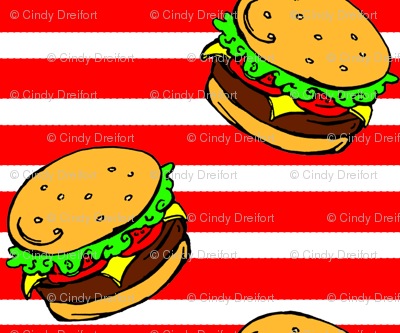 Cheeseburger Dream Stripe