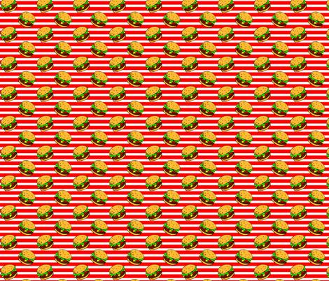Cheeseburger Dream Stripe fabric by cindersonfiber on Spoonflower - custom fabric