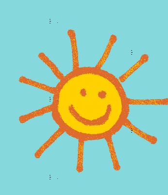 Happy Suns in Aqua