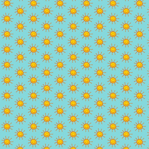 Happy Suns in Aqua