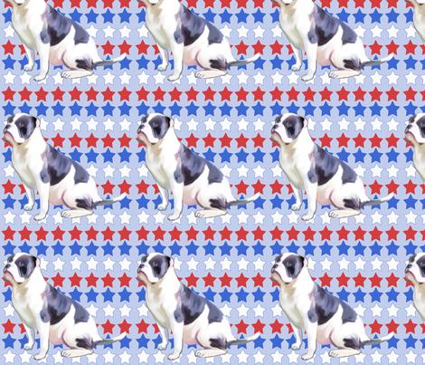 alahapa_blueblood_bulldog fabric by dogdaze_ on Spoonflower - custom fabric