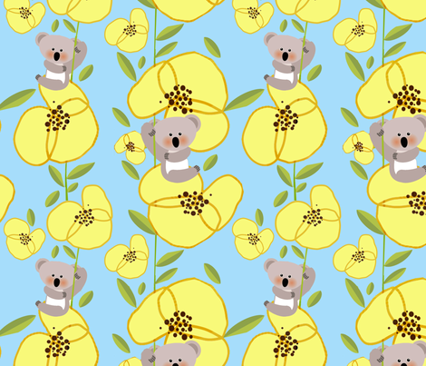 Yellow Pansies fabric by bluegreenplanet on Spoonflower - custom fabric