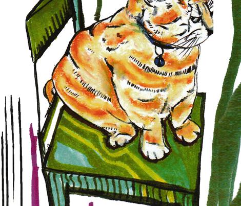 regal_cat_3500 fabric by sausing on Spoonflower - custom fabric