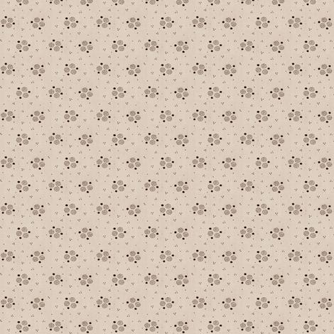 Ecru & Brown Calico fabric by the_cornish_crone on Spoonflower - custom fabric