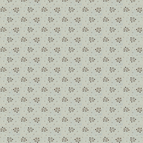 Pale blue wash brown dot calico fabric by the_cornish_crone on Spoonflower - custom fabric