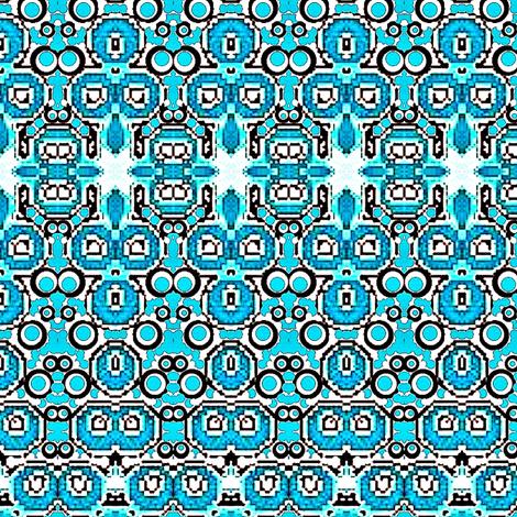 Aqua blue india design fabric by dk_designs on Spoonflower - custom fabric