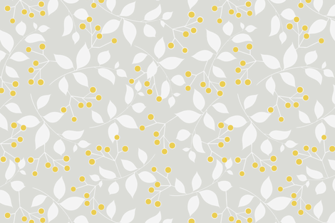 Sprig, Mist   Sunshine fabric by kateriley on Spoonflower - custom fabric